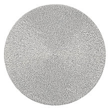 Buy John Lewis Glass Bead Placemats, Set of 2, White Online at johnlewis.com