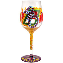 Buy Lolita 40th Birthday Wine Glass Online at johnlewis.com