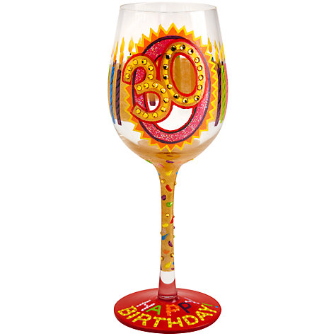 Buy Lolita 30th Birthday Wine Glass Online at johnlewis.com