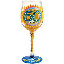 Buy Lolita 50th Birthday Wine Glass Online at johnlewis.com