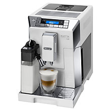Buy De'Longhi ECAM45.760 Eletta Flat White Bean to Cup Coffee Machine, White Online at johnlewis.com