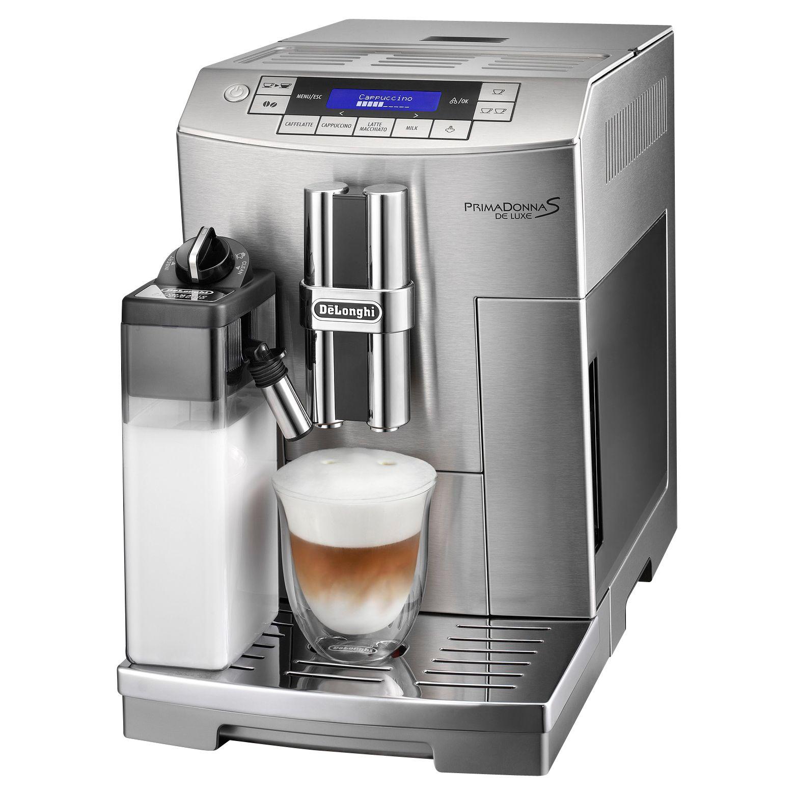 Electronic Prima Donna Delonghi Coffee Machine buy delonghi ecam28 465 m prima donna s deluxe bean to cup coffee to
