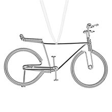 Buy John Lewis Bicycle Hanging Tree Decoration, Silver Online at johnlewis.com