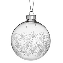 Buy John Lewis Glitter Star Bauble, Clear/White Online at johnlewis.com