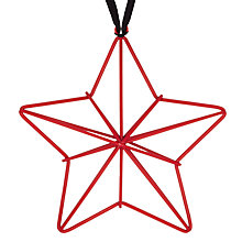 Buy John Lewis Metal Star Decoration, Red Online at johnlewis.com