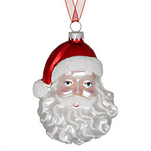Buy John Lewis Retro Father Christmas Head Decoration Online at johnlewis.com