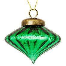 Buy John Lewis Jewel Bauble, Green Online at johnlewis.com