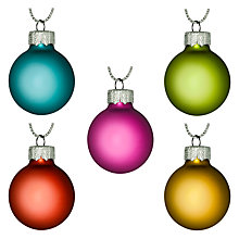 Buy House by John Lewis Mini Glass Baubles, Set of 27 Online at johnlewis.com