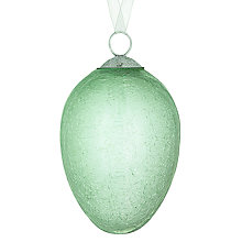 Buy John Lewis Croft Collection Crackle Egg Bauble, Green Online at johnlewis.com