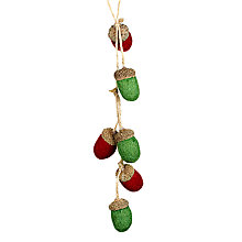 Buy John Lewis Felt Acorn Cluster, Red/Green Online at johnlewis.com
