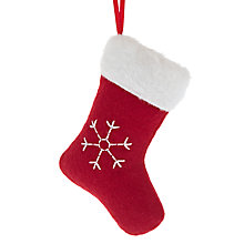 Buy John Lewis Felt Stocking Decoration, Red Online at johnlewis.com
