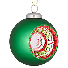 Buy John Lewis Reflector Bauble, Green Online at johnlewis.com