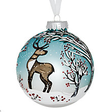 Buy John Lewis Reindeer Scene Bauble Online at johnlewis.com