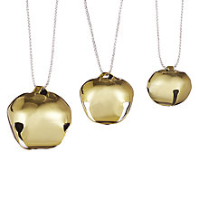 Buy John Lewis Shiny Jingle Bells Decorations, Pack of 50, Gold Online at johnlewis.com