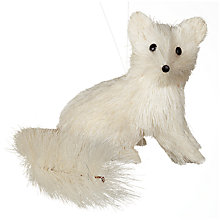 Buy John Lewis Sisal Fox Decoration, White Online at johnlewis.com