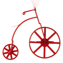 Buy John Lewis Metal Bicycle Decoration, Red Online at johnlewis.com