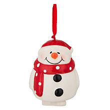 Buy John Lewis Ceramic Snowman With Santa Hat Online at johnlewis.com