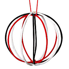Buy John Lewis Wire Ball Bauble, Red/White Online at johnlewis.com
