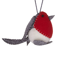 Buy John Lewis Felt Robin Decoration, Multi Online at johnlewis.com