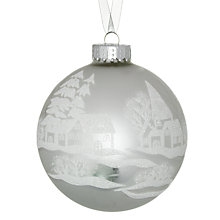 Buy John Lewis Snow Scene Bauble, White Online at johnlewis.com