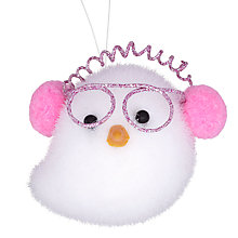 Buy John Lewis Owl Decoration, White/Pink Online at johnlewis.com