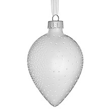 Buy John Lewis Croft Collection Shiny Drop with Dots, White/Silver Online at johnlewis.com
