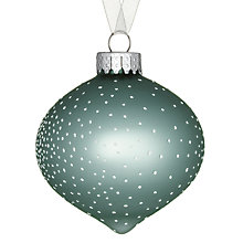 Buy John Lewis Croft Collection Onion Bauble with Dots Bauble, Green/White Online at johnlewis.com