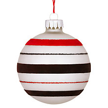 Buy John Lewis Striped Bauble, Multi Online at johnlewis.com