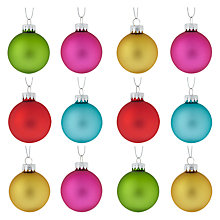Buy House by John Lewis Glass Baubles, Set of 12 Online at johnlewis.com