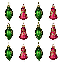 Buy John Lewis Vintage Glass Bells and Jewels, Set of 12 Online at johnlewis.com