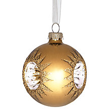 Buy John Lewis Reflector Bauble, Mini, Gold Online at johnlewis.com