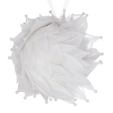 Buy John Lewis Croft Collection Beaded Feathers Decoration, White Online at johnlewis.com