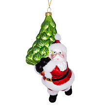 Buy John Lewis Father Christmas Carrying Tree Decoration Online at johnlewis.com