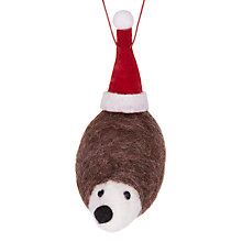 Buy John Lewis Felt Hedgehog With Hat, Multi Online at johnlewis.com