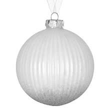 Buy John Lewis Croft Collection Graduation Bauble, White/Silver Online at johnlewis.com