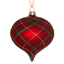 Buy John Lewis Checked Onion Bauble, Red/Green Online at johnlewis.com