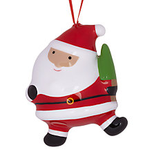 Buy John Lewis Plastic Father Christmas, Red/Multi Online at johnlewis.com