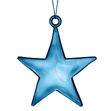Buy John Lewis Plastic Shiny Star Decoration, Blue Online at johnlewis.com