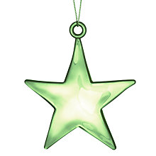 Buy John Lewis Plastic Star Decoration, Green Online at johnlewis.com