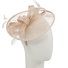 Buy John Lewis Beatrice Two Disc Occasion Hat, Champagne Online at johnlewis.com