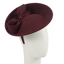 Buy John Lewis Katy Felt Disc with Bow Fascinator, Burgundy Online at johnlewis.com