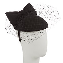 Buy John Lewis Chloe Felt Veil and Bow Occasion Hat, Black Online at johnlewis.com