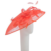 Buy John Lewis Ivy Large Disc Occasion Hat, Orange Online at johnlewis.com