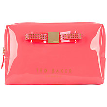 Buy Ted Baker Joulour Large Jewel Wash Bag, Bright Pink Online at johnlewis.com