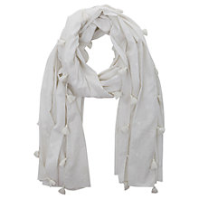 Buy Mint Velvet Embroidered Spot Scarf, Ivory Online at johnlewis.com