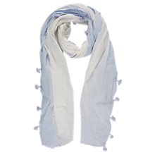 Buy Mint Velvet Tassel Scarf, Santorini Ivory & Ice Blue Online at johnlewis.com