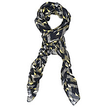 Buy French Connection Kendall Scarf, Black/Multi Online at johnlewis.com