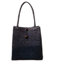 Buy East Wicker Bag, Indigo Online at johnlewis.com
