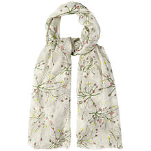 Buy White Stuff Foliage Print Scarf, Off White Online at johnlewis.com