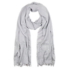 Buy Mint Velvet Ethereal Pearl Stud Scarf, Grey Online at johnlewis.com